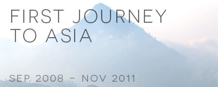 First journey to Asia